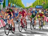 Course cycliste sur la ZI